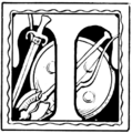 Initial at page 194 of Indian Fairy Tales (1892).png
