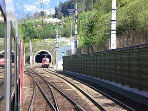 South portal of the Inntal Tunnel