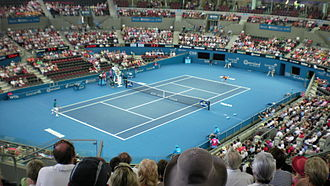 Brisbane International - Inside of Pat Rafter Arena during a day session