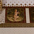 Interieur, bel-etage, achterzijde rechts (Vestibule van de wachtkamer eerste klasse), muurschildering, De maand oktober - Amsterdam - 20392757 - RCE.jpg