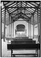 Interior, overall view looking east (chancel), vertical - Templo de Porta Coeli, San German, San German Municipio, PR HABS PR,5-SANG,1-21.tif