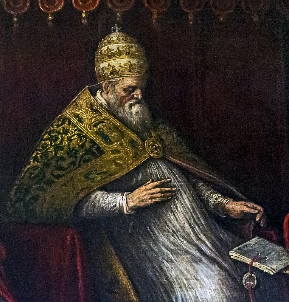 Interior of Santi Giovanni e Paolo (Venice) - Honorius III by Leandro Bassano