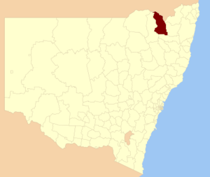 Inverell Shire - Location in New South Wales