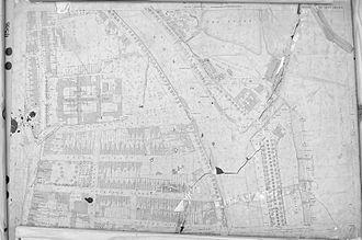 Ipswich Dock - Map showing the original lock gates 1884
