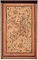 Iran o copia successiva indiana, disegno con quattro leoni da una stessa testa, xvii secolo o seguente.jpg