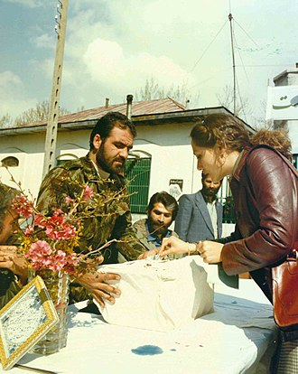 Iranian Islamic Republic referendum, March 1979 - Woman casting her vote