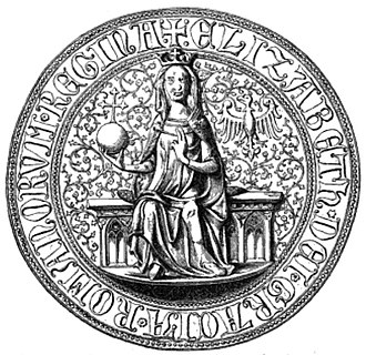 Isabella of Aragon, Queen of Germany - Seal of Isabella of Aragon
