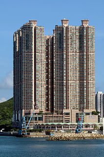 Private housing estate in Hong Kong