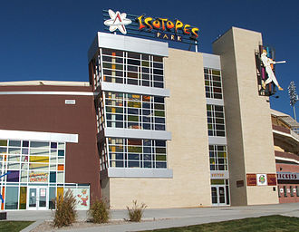 Isotopes Park - Image: Isotopes Park Front