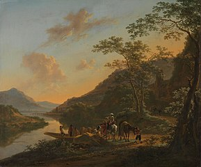 Italian Landscape with Ferry