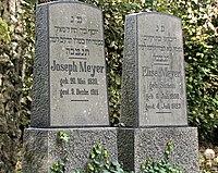 Jüdischer Friedhof Schwelm - Grabstein Joseph Meyer.jpg