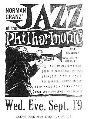 Jazz at the Philharmonic - JATP concert announcement 1956