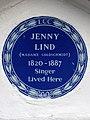 JENNY LIND (MADAME GOLDSCHMIDT) 1820-1887 Singer Lived Here.jpg