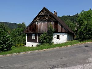 Jablonec nad Jizerou - Timbered cottage in Jablonec nad Jizerou. Classic historic style in North Bohemia.