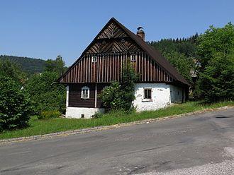 Jablonec nad Jizerou - Timbered cottage in Jablonec nad Jizerou. Classic historic style in North Bohemia.