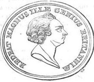 William King (St Mary Hall) - Jacobite medal with inscription Redeat Magnus Ille Genius Britanniæ