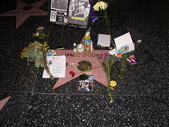 James Doohan - Doohan's star on Hollywood Boulevard after his death.