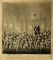 James Graham; addressing a throng in Edinburgh. Etching by J Wellcome V0002353.jpg