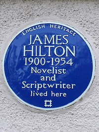 James Hilton Blue Plaque.JPG