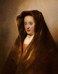 An Unknown Woman in a Green Velvet Hood
