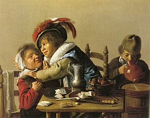 Three Children at a Table