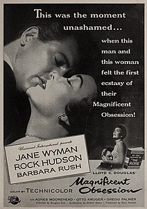 Jane Wyman and Rock Hudson in 'Magificent Obsession', 1954.jpg