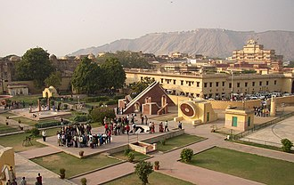 Indian astronomy - Sawai Jai Singh (1688–1743 CE) initiated the construction of several observatories. Shown here is the Jantar Mantar (Jaipur) observatory.