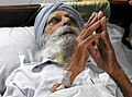 Jaswant Singh Kanwal in bed ridden condition.jpg