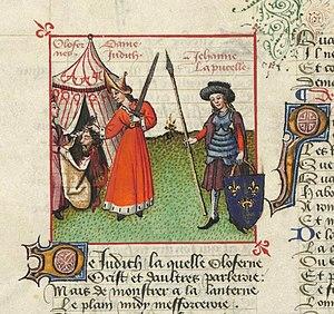 Cultural depictions of Joan of Arc - Image: Jeanne d'Arc Judith Le Champion des Dames