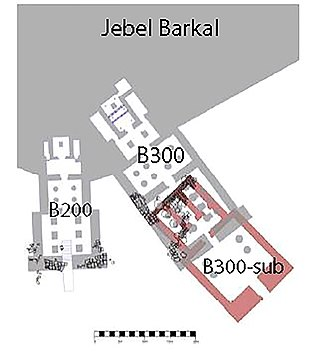 Temple of Mut, Jebel Barkal - Ground plan of the Temple of Mut.