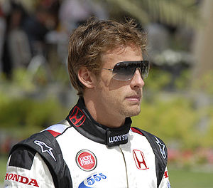 Jenson Button at the 2006 Bahrain Grand Prix.