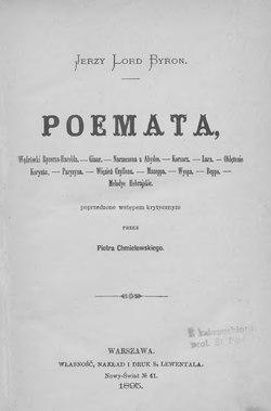 Poemata Byroncałość Wikiźródła Wolna Biblioteka