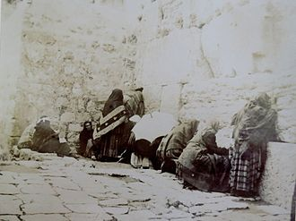 Western Wall - Jews' Wailing Place, Jerusalem, 1891