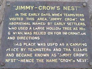 Crows Nest, Queensland - Jimmy Crow Statue information