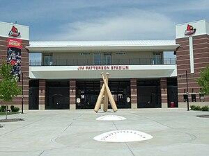 Jim Patterson Stadium - Front entrance to Jim Patterson Stadium