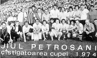 CSM Jiul Petroșani - Jiul Petroșani (1973–1974), team that won the 1974 Romanian Cup.