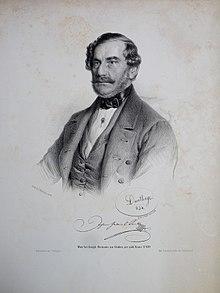 Johann Gabriel Seidl. Lithographie von Adolf Dauthage, 1854 (Quelle: Wikimedia)