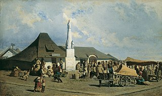Marktplatz in Szolnok