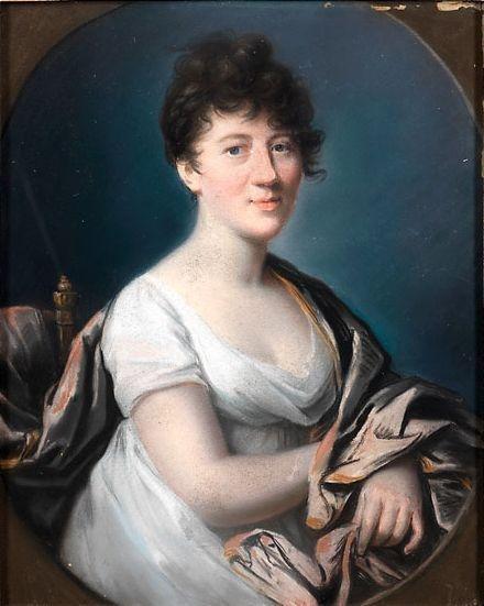 Johann Heinrich Schröder zugeschrieben, Portrait der Gräfin Charlotte von Hardenberg