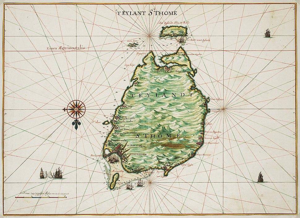 Johannes Vingboons - 't eylant St. Thome (1665)