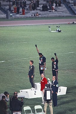 John Carlos, Tommie Smith, Peter Norman 1968
