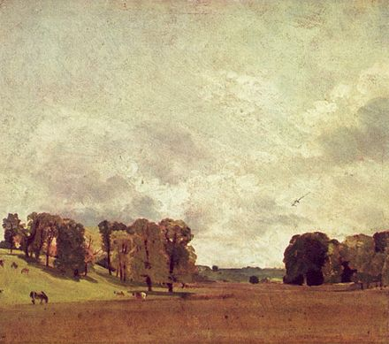Painted depiction of Epsom by John Constable, c. 1808. John Constable 002.jpg