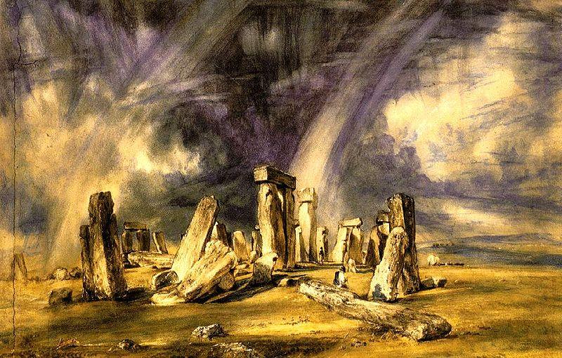 stonehenge von John Constable im jahr 1835 gemalen