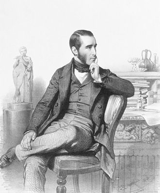 John Simon (pathologist) - Lithograph of John Simon by Charles Baugniet (1848)