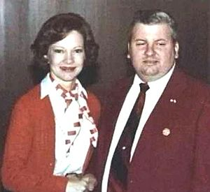 Gacy with Rosalynn Carter, 1978