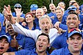 Jon Stewart poses for a photo with the Air Force team for the 2016 Department of Defense Warrior Games (27599844122).jpg