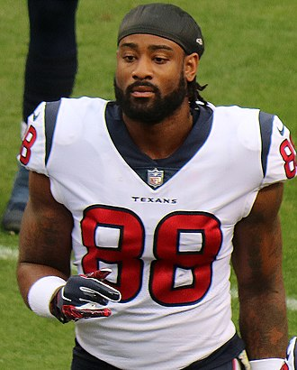Jordan Akins - Akins with the Houston Texans in 2018.