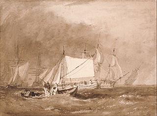 Shipping Scene, with Fishermen