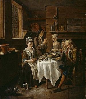 Joseph Van Aken - Joseph van Aken, Saying Grace, c. 1720
