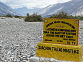 Jules Renard quotation on Himank BRO sign board in the Nubra Valley, Ladakh, Northern India.JPG
